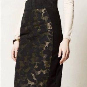 NWOT Maeve Camo Pencil Skirt